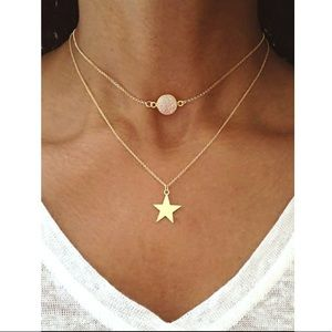 ⭐️Star double layer necklace ⭐️